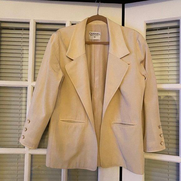 CHANEL vintage blazer pale yellow